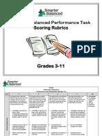 smarter-balanced scoring rubrics