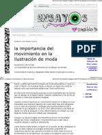 Ensayos_ La Importancia Del Movimiento en La Ilustración de Moda