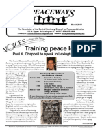 March 2010 Peaceways Newsletter, Central Kentucky Council for Peace and Justice