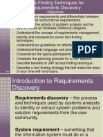 Facts Finding Techniques for Requirements Discovery.