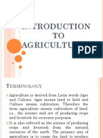 Introduction to Agriculture...