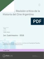 Seminario_Revisión Crítica de La Historia Del Cine Argentino - 2016