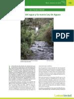 10. Actualidad. La Gestión Del Agua y La Nueva Ley de Aguas… Pablo Lloret Z