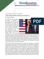 Por Diego Olivera Evia La falsa apología de EEUU