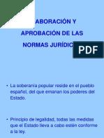 Elaboración y Aprobación de Las Normas Jurídicas