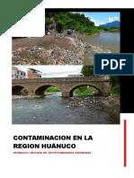 Contaminacion en La Region Huánuco