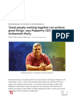 'Great People Working Together Can Achieve Great Things,' Says Pepperfry CEO Ambareesh Murty