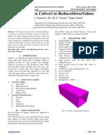 Analysis of Box Culvert to Reduce Stress Values