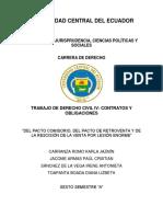 Pacto Comisorio, Retroventa y Rescisión Por Lesión Enorme