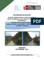Plan de Trabajo Para La Declaración de Impacto Ambiental Del Proyecto Inversión