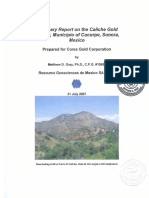 Cerro Caliche Technical Report M Gray for Corex Gold 2007July31.10591820
