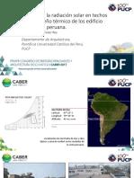 M.wieser Control de La Radiación Solar en Techos y Desempeño Térmico de Los Edificio en La Costa Peruana.