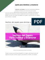 Hechizo Del Zapato Para Dominar y Enamorar