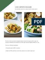 Salata Rapida de Cartofi Si Mazare