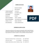 Curriculum Mauricio
