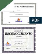 Certificados de Participacion