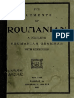 The Elements of Roumanian, A Complete Roumanian Grammar With Exercises 1919