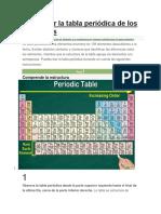 Cómo Leer La Tabla Periódica de Los Elementos
