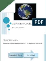 Presentación GEOMORFOLOGÍA