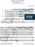 Chant de Linos Jolivet Score