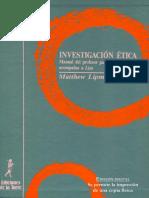 Lipman Matthew - Investigacion Etica.pdf
