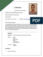 Mohammed Ali Rammal's CV