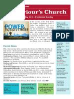 st saviours newsletter - 20 may 2018 pentecost