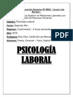 Trabajo Final de Psicologia Laboral