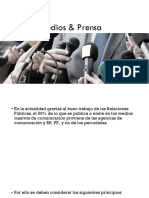 Medios & Prensa para Relaciones Públicas