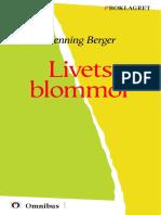 Hening Berger - Livets Blommor [ Prosa ] [1a Tryckta Utgåva 1912, Senaste Tryckta Utgåva 1923, 229 s. ]