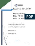 Maquinaria y Equipo de Compactacion