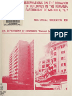 Observations on the Behavior of Buildings in the Romania Earthquake of March 4, 1977