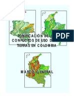 Zonificacion de conflictos de uso de suelo en Colombia - Marco General