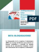 Antihipertensivos Beta-bloqueadores y Bloqueadores de Calcio
