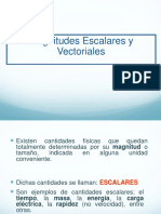 Magnitudes Escalares y Vectoriales