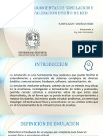 Exposicion Herramientas de Simulacion y Validacion Diseño de Red