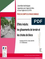 JT Seisme 2012 J1 04 Glissement Chutes Blocs V2