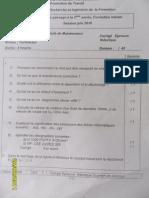 Corrigè -Examen de Passage 2010