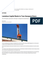 Lemelson Capital Wants to Toss Geospace Execs