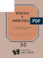 Europa y Amerindia El Indio Americano en Textos Del Siglo XVIII