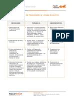 Ejemplo de Registro Necesidades y Lineas de Accion Convivencia