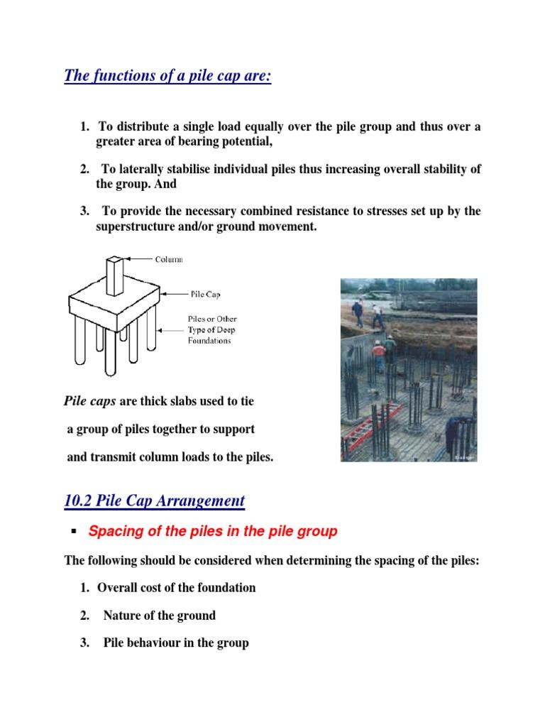Pile Cap Design Deep Foundation Mechanical Engineering