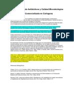 Determinación de Antibióticos y Calidad Microbiológica de La