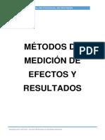 Métodos de Medición de Efectos y Resultados