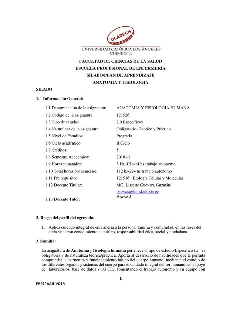 Anatomía y Fisiología Enfermeria FINAL20181
