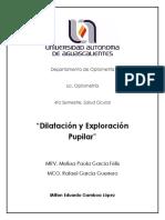 Dilatación y Exploración Pupilar