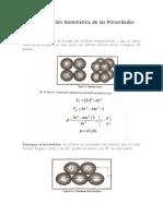 Determinación Matemática de Las Porosidades