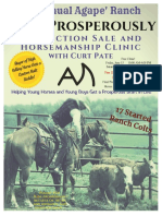 2018 Agape Horse Sale CATALOG