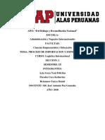 Proceso de Importación y Exportación Si