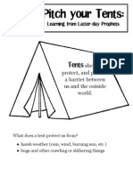 FHE Pitching Your Tents